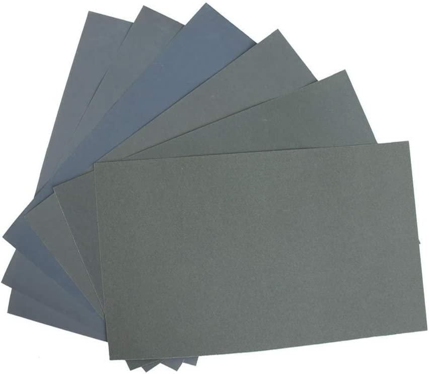 6pcs Beige Fishyu 6X Resistente Al Agua Papel Esmeril Papel Esmeril P600// 1000//1200//1500//2000//2500