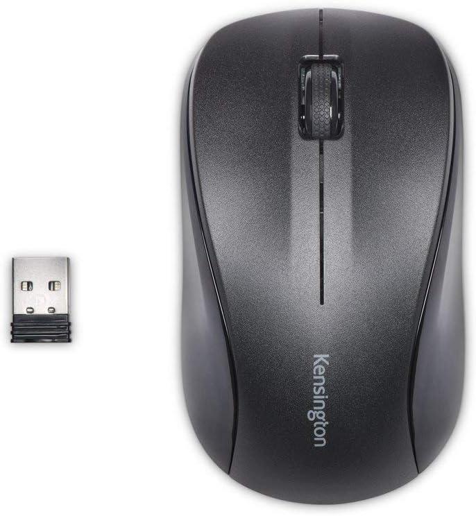 Kensington Silent Mouse-for-Life Wireless USB Mouse - Black (K72392US)