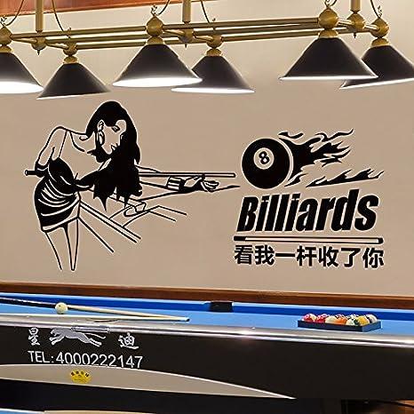 Pegatinas de pared Sala de Billar Club de Ocio sala de billar snooker pegatinas de pared Tienda decoraciones de fondo Billar chica,110×50 cm.: Amazon.es: Hogar