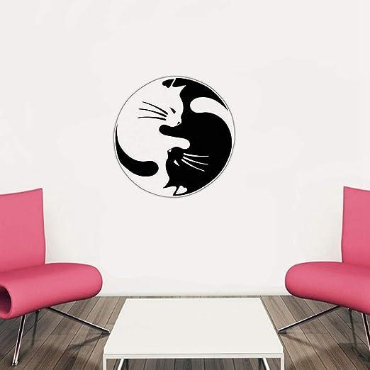 pegatina de pared etiqueta de la pared Fusion Yoga Cat ...
