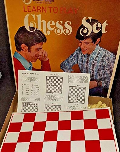 (VINTAGE Gallant Knight Learn to Play Chess Set -- Includes Staunton Design Chessmen, Playing Board, Instructions)