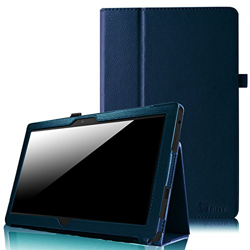 Fintie Folio Case for Microsoft Surface RT / Surface 2 10.6 inch Tablet Slim Fit with Stylus Holder (Does Not Fit Windows 8 Pro Version) - Navy by Fintie