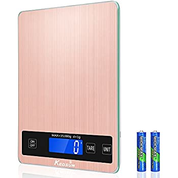 KEDSUM Digital Kitchen Scale, 33lb/15kg Cooking Scale, Multifunction Food  Scale With Water