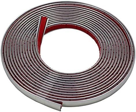 Decoraci/ón de la tira de cromo 8mm x 5m ; Tira adhesiva de coches uni flexibles