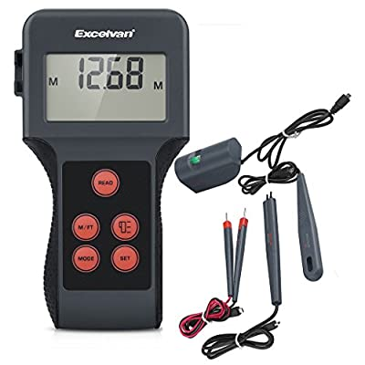 Excelvan LCD Digital Display Moisture Meter Humidity Tester for Garden Plants, Building Materials, Wood, Wall Water Measuring