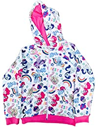 Little Pony Girls Super Soft Woobie Hoodie All Over Print White