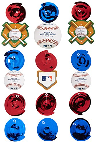 Amscan Rawlings Baseball Value Pack Swirl Decorations, 7