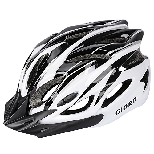 GIORO Ultra Lightweight Bike Helmet CPSC Certified Adjustable Sport Cycling Helmet Adult Bicycle Helmets for Road & Mountain for Men & Women (Black&White)