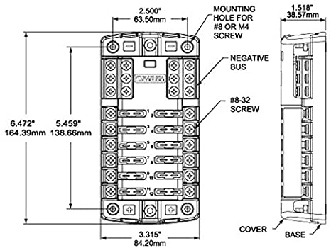 amazon.com : blue sea systems st blade fuse block - 12 circuits with  negative bus & cover : fuse block with relay : sports & outdoors  amazon.com