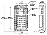 Blue Sea Systems ST Blade Fuse Block - 12 Circuits