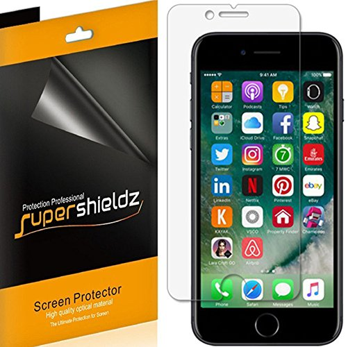 Supershieldz (6 Pack) for Apple iPhone 8 Plus and iPhone 7 Plus Screen Protector, Anti Glare and Anti Fingerprint (Matte) Shield