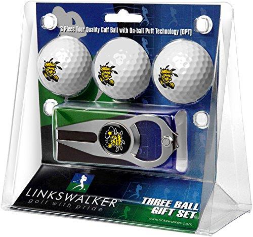 Bottle Shockers State Wichita - NCAA Wichita State Shockers - 3 Ball Gift Pack with Hat Trick Divot Tool