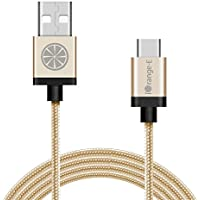USB C, Type C iOrange-E 10ft(3M) Braided Cable with Aluminum Connector for 2015 Apple New Macbook, OnePlus 2, Nexus 6P, 5X, Lumia 950, Nokia N1 Tablet and Other USB Type C Devices, Gold