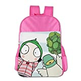 Kids Sarah & Duck School Backpack Cute Boys Girls School Bag Pink