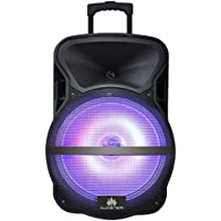 Audster AUD-R115 Professional Rechargeable 15 Inch 2200W Speaker with LED Lights and Kareoke