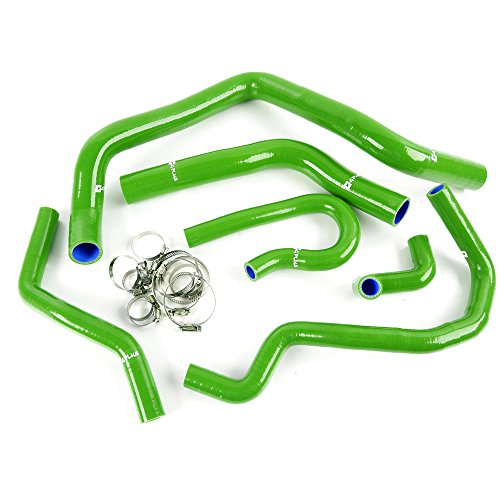 Silicone Radiator Hose Kit Clamps For Honda Civic Type R EK4/9 B16A B16B B18C 1992-2000 Green