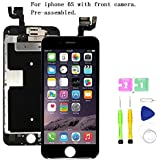 Screen Compatible with iPhone 6S 4.7 inch Full Assembly - LCD 3D Touch Display Digitizer with Ear Speaker, Sensors and…