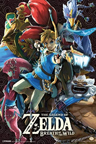Pyramid America Laminated Legend of Zelda Breath of The Wild Divine Beasts Video Game Gaming Sign Poster 12x18 inch (Zelda Breath Of The Wild Vah Naboris)