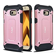 Galaxy A5 2017 Case, J&D [ArmorBox] [Dual Layer] Hybrid Shock Proof Protective Rugged Case for Samsung Galaxy A5 (Release in 2017) - Rose Gold