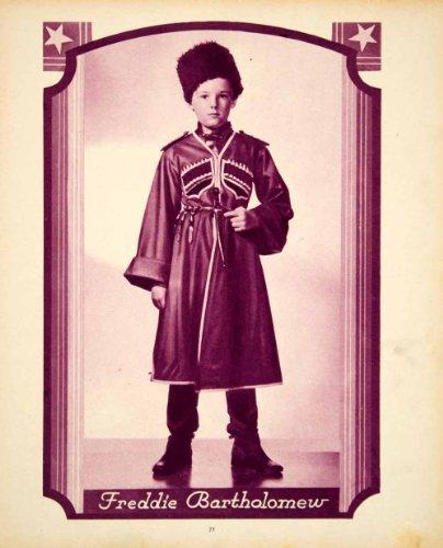 [1938 Rotogravure Freddie Bartholomew Child Actor Russian Costume Anna Karenina - Original] (Anna Karenina Movie Costumes)