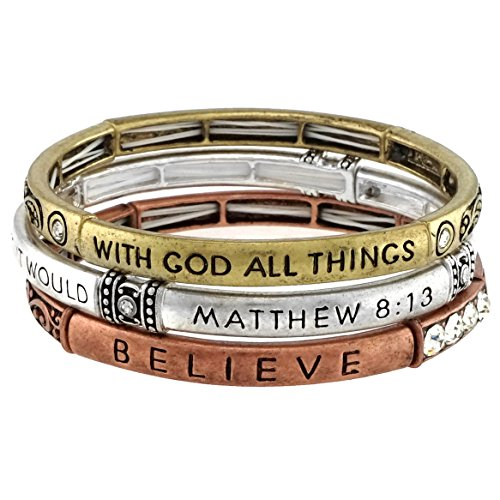 Stackable Inspirational Religious Stretch Bracelet product image