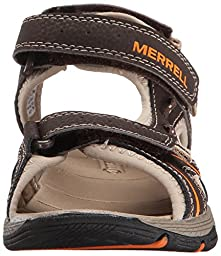 Merrell Panther Water Sandal (Toddler/Little Kid/Big Kid), Brown/Black, 10 M US Toddler