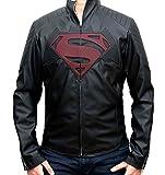 Super vs Bat Mens Leather Padded Jacket - Vegan Leather (XXL)