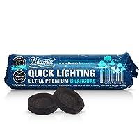 20 Pieces Beamer Premium Quick / Instant Light Charcoal 33mm (2 x 10 Tablet Rolls) + Beamer Sticker. Can use w/ Incense, Smoking, Hookah, Herbal Shisha, Nargila, Argila, Hooka, Sheesha. Since 2010