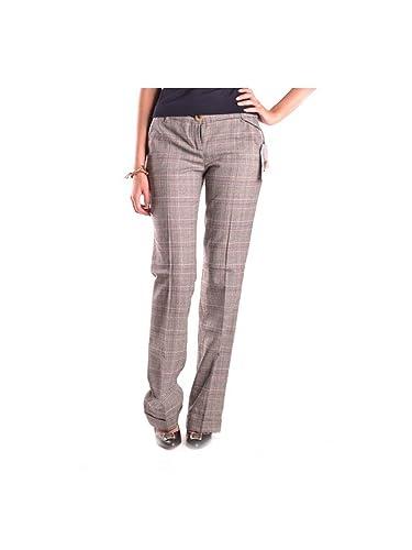 Dolce E Gabbana Mujer MCBI099256O Marrón Lana Pantalón