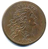 Coin 1793 USA One Cent - Flowing Hair Cent / Wreath Cents - Replica