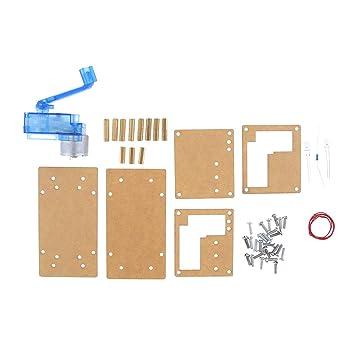 Baoblaze Generador de Manivela de Dínamo Experimento Electrónico DIY Kits de Energía de Emergencia: Amazon.es: Jardín