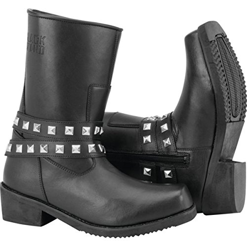 Black Brand MIA Women's Street Motorcycle Boots - Black/Size 6