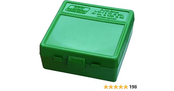 Holds 50 Rounds Bullseye Blue Plastic Ammo Box for 38 Spl Lot of 4 357 Mag