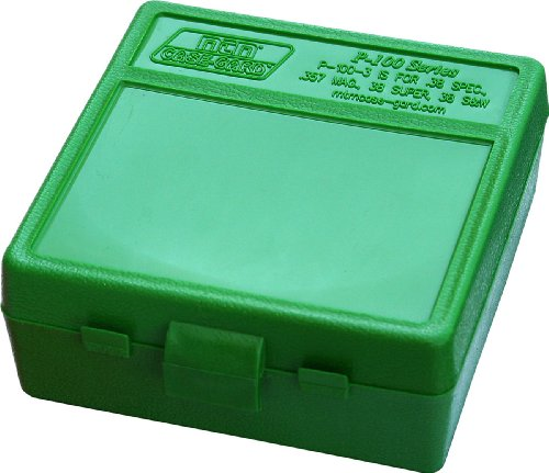 MTM 100 Round Flip-Top Ammo Box 38/357 Cal (Green)