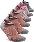 TM-MZS08-GRD_Large Tesla 6-Pack Unisex No-Show Casual Fashion Socks Atheltic MZS08