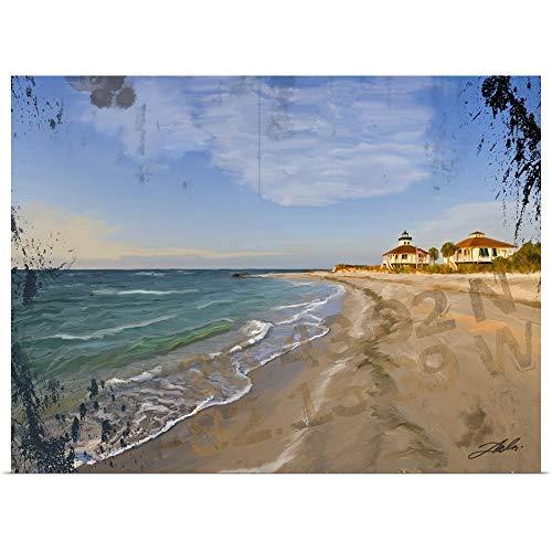 GREATBIGCANVAS Poster Print Entitled Boca Grand Lighthouse by Tim Dardis 24
