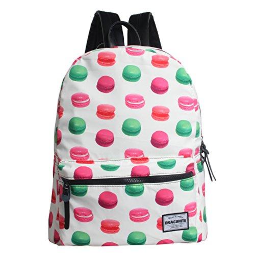 Draconite Unisex Travel Backpack School Bag Trendy Lightweight (White Burger)