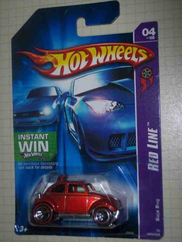 - Red Line Series #4 Baja Bug Instant Win Card #2006-99 Collectible Collector Car Mattel Hot Wheels