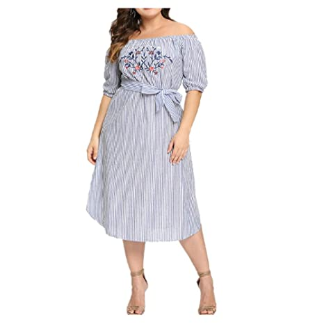 ZSRHH-Falda Vestido de Mujer Vestido de Encaje de Escote Suelto de ...