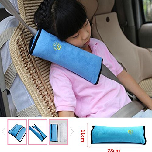I was very pleased when I took the car seat cover out of the package. It's extremely soft and super easy to attach to your seatbelt. I love the color. I use this for my 5 yr old and it's perfect when he falls asleep during our long
