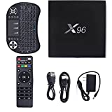 X96 Plus Smart Streaming Media Players, Android 6.0 KODI 16.1 4K Smart TV Box, Amlogic S905X Quad Core 2GB/16GB with Wireless Keyboard by YTAT