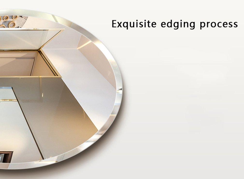 miroir simple Miroir de salle de bains de style europ/éen taille : 45 * 60cm miroir cosm/étique miroir mural de salle de bains ovale miroir de salle de bains