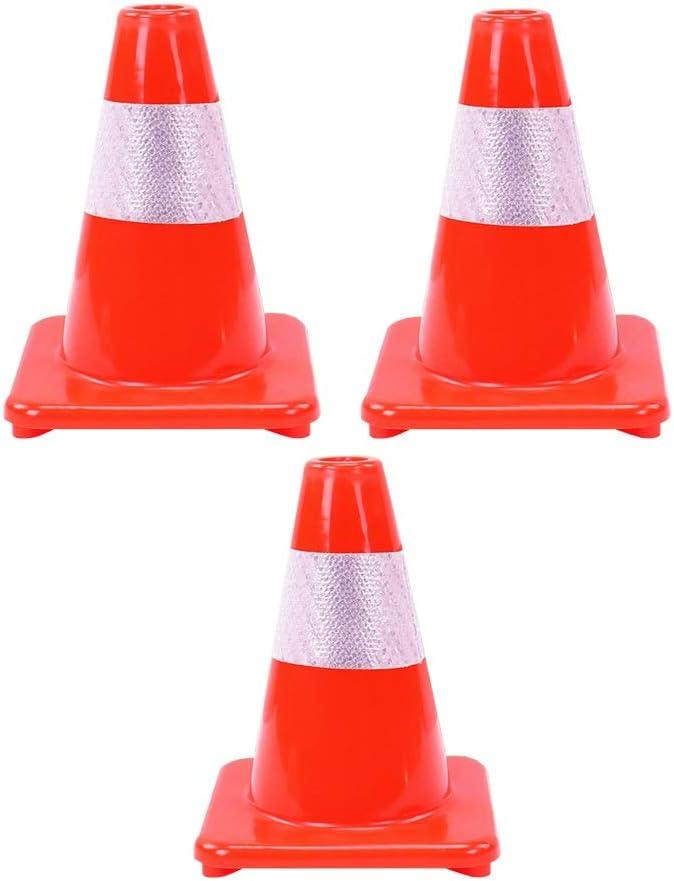 Conos de Seguridad Size : 1pcs XJLG Conos Conos de Advertencia se/ñales de tr/áfico de Control de tr/áfico Cono Seguridad Vial H-30cm Conos de f/útbol