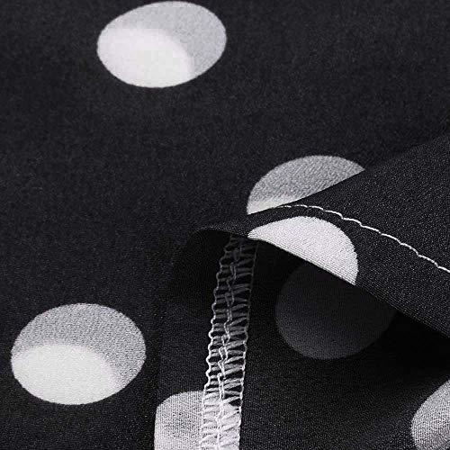 Noir Chemise Automne Shirt Pois Solike Femme Printemps Manches T Longues Blouse Blouses Chic Casual Col lgant Chemisier Tops de qv1Uwqg