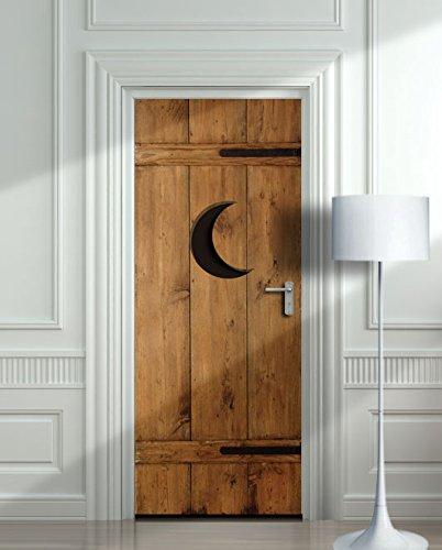 Pared puerta laminado adhesivo cobertizo armario para inodoro WC Póster, Póster, Decole, película