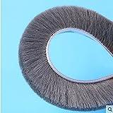 H-density Felt Draught Excluder Wool Pile Weather Strip Adhesive Brush for Sliding Sash Window Door Brush Seals 9 X 23mm 10M Gray