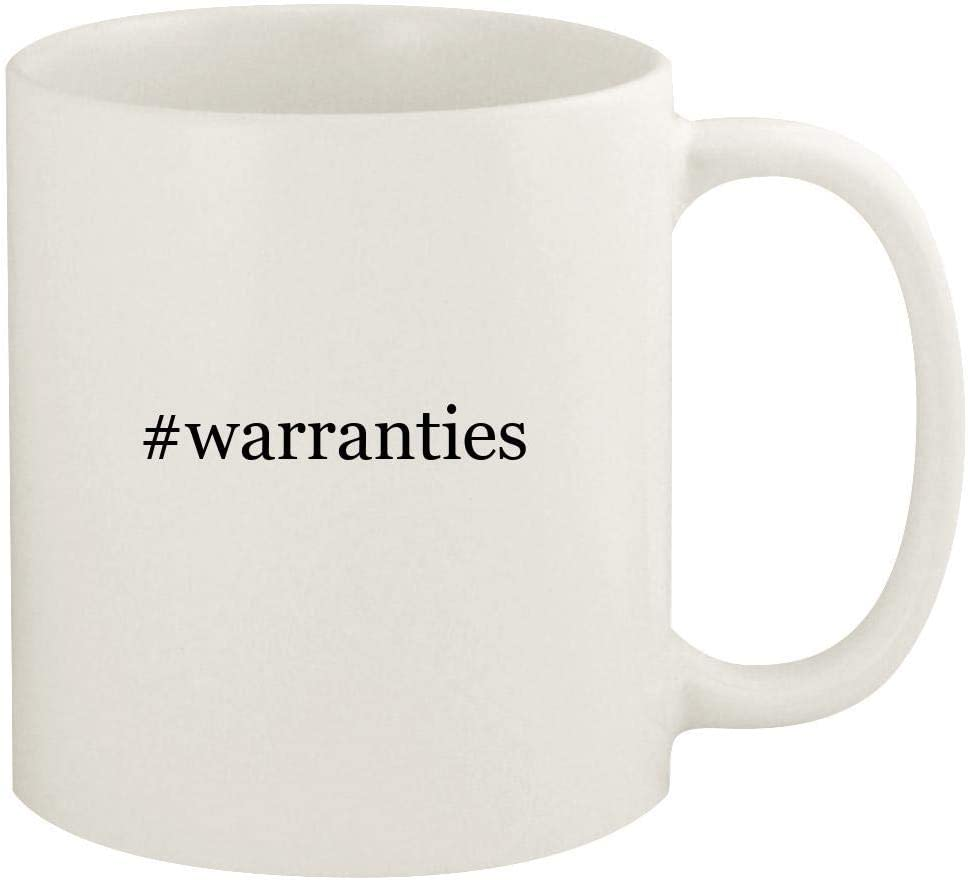 #warranties - 11oz Hashtag Ceramic White Coffee Mug Cup, White