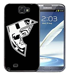 Samsung Galaxy Note 2 Black Rubber Silicone Case - Famous Stars and Straps Logo Famous F