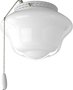 Progress Lighting P2644-30 AirPro Ceiling Fans, 6-1/2-Inch Diameter x 8-1/2-Inch Height, White