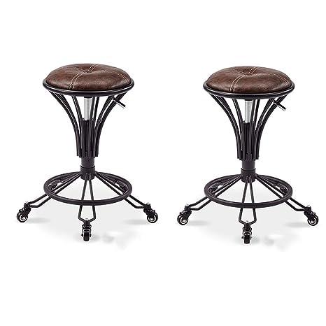 Strange Amazon Com Zuoanchen Bar Stools Adjustable Swivel Hydraulic Machost Co Dining Chair Design Ideas Machostcouk